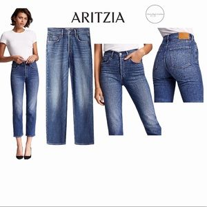 Denim Forum The Arlo High-Waisted Straight Jean